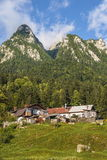Mountain landscape with old houses Stock Photography