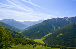 Mountain Landscape On Alps With Beautiful Panorama Stock Photography