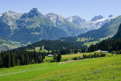 Mountain landscape over Engelberg Royalty Free Stock Photography