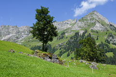 Mountain landscape over Engelberg Stock Image