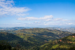 Mountain landscape at Pai, Maehongson, Thailand Stock Images
