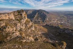 Mountain landscape of Pancorbo gorge in Burgos, Spain.  stock photo
