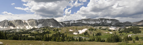 Mountain landscape panorama Royalty Free Stock Photos
