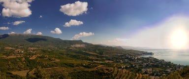 Mountain landscape panorama Royalty Free Stock Photos