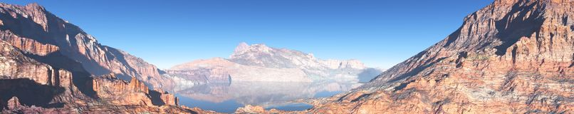 Mountain landscape, panorama, banner. Royalty Free Stock Photography