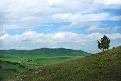 Mountain landscape panorama. Beauty of nature wallpaper Royalty Free Stock Photography