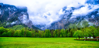 Mountain landscape panorama Royalty Free Stock Images