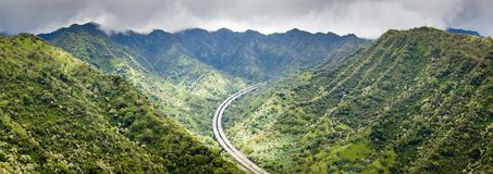 Mountain Landscape Panorama Hawaii Royalty Free Stock Image
