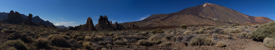 Mountain landscape panorama Teide Tenerife Stock Photography