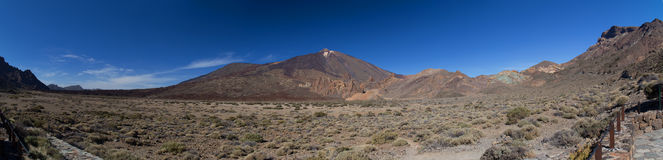 Mountain landscape panorama Teide Tenerife Royalty Free Stock Photography