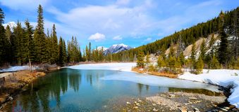 Mountain landscape panorama Royalty Free Stock Photo