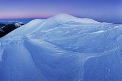 Mountain landscape panoramic view with blue sky Gorgeous winter sunset in mountains, Alps. Colorful outdoor scene, Christmas. Mountain landscape panoramic view royalty free stock photography
