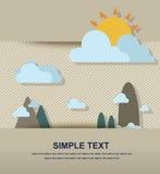 Mountain landscape paper Stock Photo