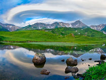 Mountain landscape. Paramushir Island, Russia Stock Photography