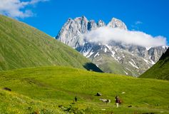 Mountain landscape of the peaks of Chauchi Royalty Free Stock Photo