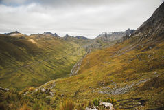 Mountain landscape of Peru Stock Images