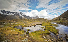 Mountain landscape of Peru Royalty Free Stock Photography
