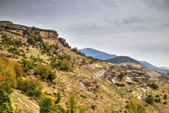 Mountain landscape with phenomenon rock formations Stock Image