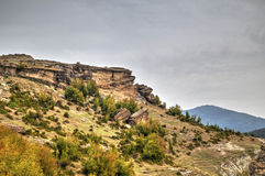 Mountain landscape with phenomenon rock formations Royalty Free Stock Image