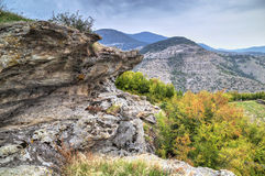 Mountain landscape with phenomenon rock formations Stock Images