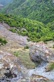 Mountain landscape with phenomenon rock formations Stock Photo