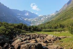 Mountain landscape. The landscape photo of mountain near Baikal lake Stock Photos