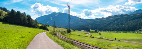Mountain landscape with railway Stock Image