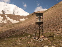 Mountain landscape and rainfall collector Stock Image