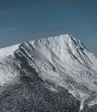 Mountain landscape in the red mountain resort in winter. Canada royalty free stock photos