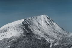 Mountain landscape in the red mountain resort in winter. Canada royalty free stock photo