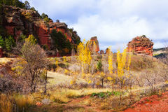 Mountain landscape with red rocks Royalty Free Stock Photo