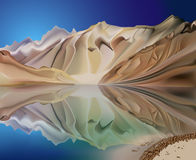 Mountain landscape reflection Royalty Free Stock Photo