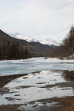 Mountain Landscape. A mountain landscape with the mountain reflection in the water Stock Photos
