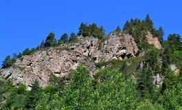 Mountain landscape. Reserve Teberda, Karachay-Cherkessia Republic, Russia. Photo taken on: July 27 Saturday, 2013 Royalty Free Stock Images