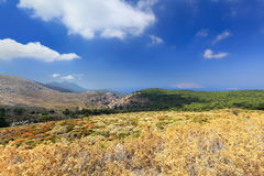 Landscape on Mount Ataviros, Rhodes Island - Greece Royalty Free Stock Photography