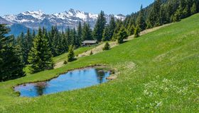 Mountain landscape. Ridanna Valley, South Tyrol, Trentino Alto Adige, Italy. Mountain landscape. Ridanna Valley, South Tyrol, Trentino Alto Adige, northern italy royalty free stock image