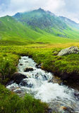 Mountain landscape with a river Stock Photo