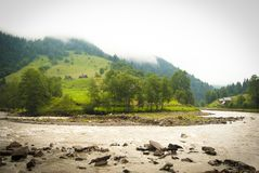 Mountain landscape with a river Royalty Free Stock Photo