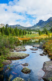 Mountain landscape with river Royalty Free Stock Photos