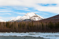 Mountain Landscape. A mountain landscape with a river running through Royalty Free Stock Image