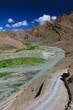 Mountain landscape with river. Zanskar Royalty Free Stock Photos