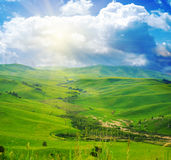 Mountain landscape with road Stock Image