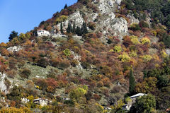 Mountain landscape with rock formations in Epirus, Greece, Stock Images