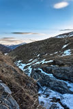 Mountain landscape. A landscape of rocky scenery in Alps royalty free stock images