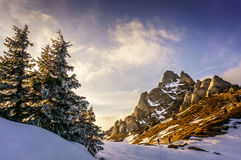 Mountain landscape in Romania Stock Images