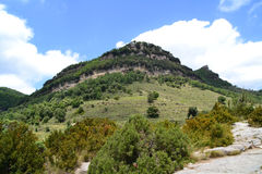 Mountain landscape in Rupit, Barcelona, Spain Royalty Free Stock Photography