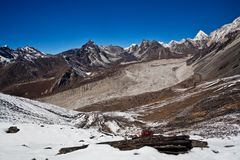 Mountain landscape in Sagarmatha National Park Royalty Free Stock Image