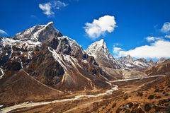 Mountain landscape in Sagarmatha National Park, Nepal Himalaya Royalty Free Stock Photos