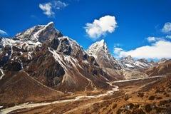 Mountain landscape in Sagarmatha National Park, Nepal Himalaya Royalty Free Stock Photos