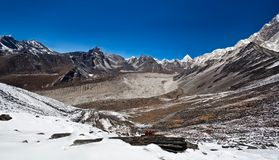 Mountain landscape in Sagarmatha, Nepal Royalty Free Stock Photos